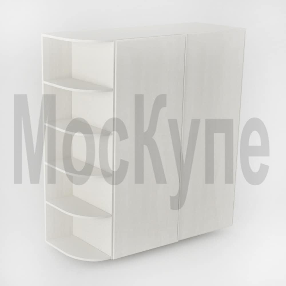 корпусный шкаф купе и радиусные полочки