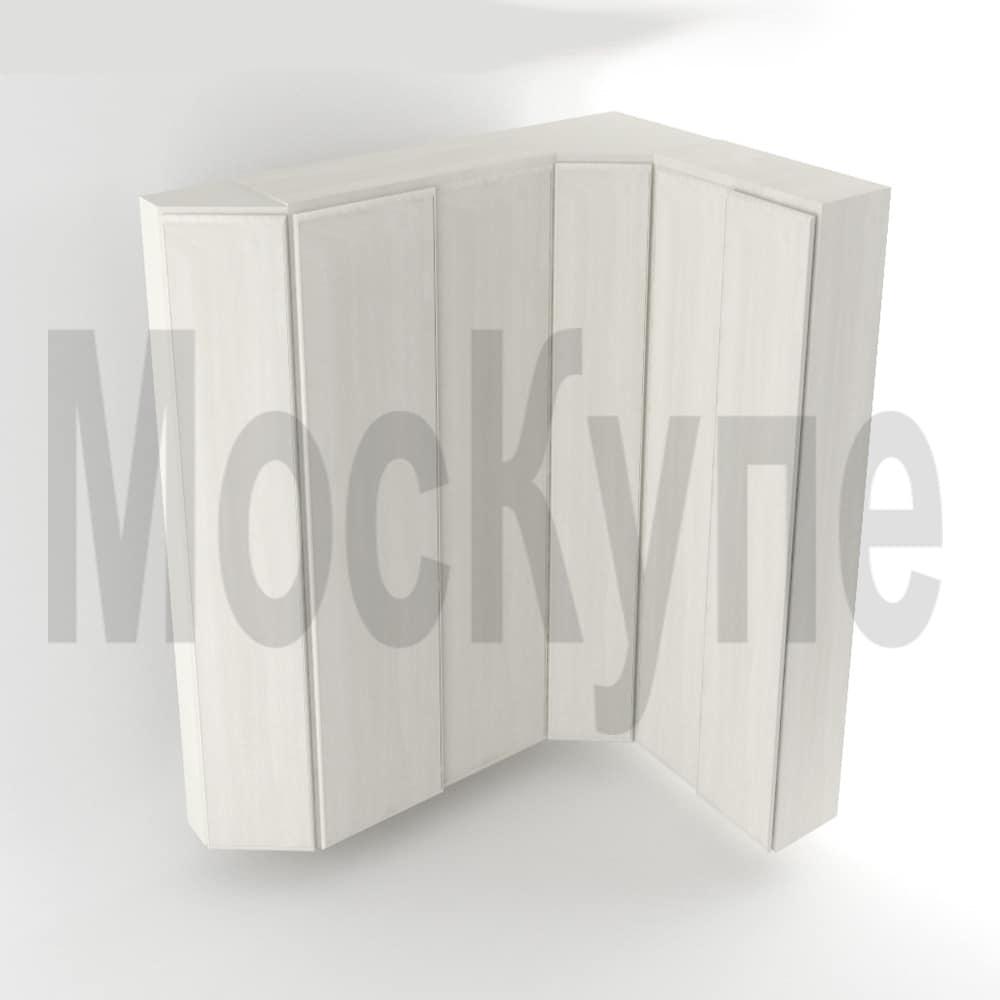 угловой шкаф купе с диагональным и скошенным элементами
