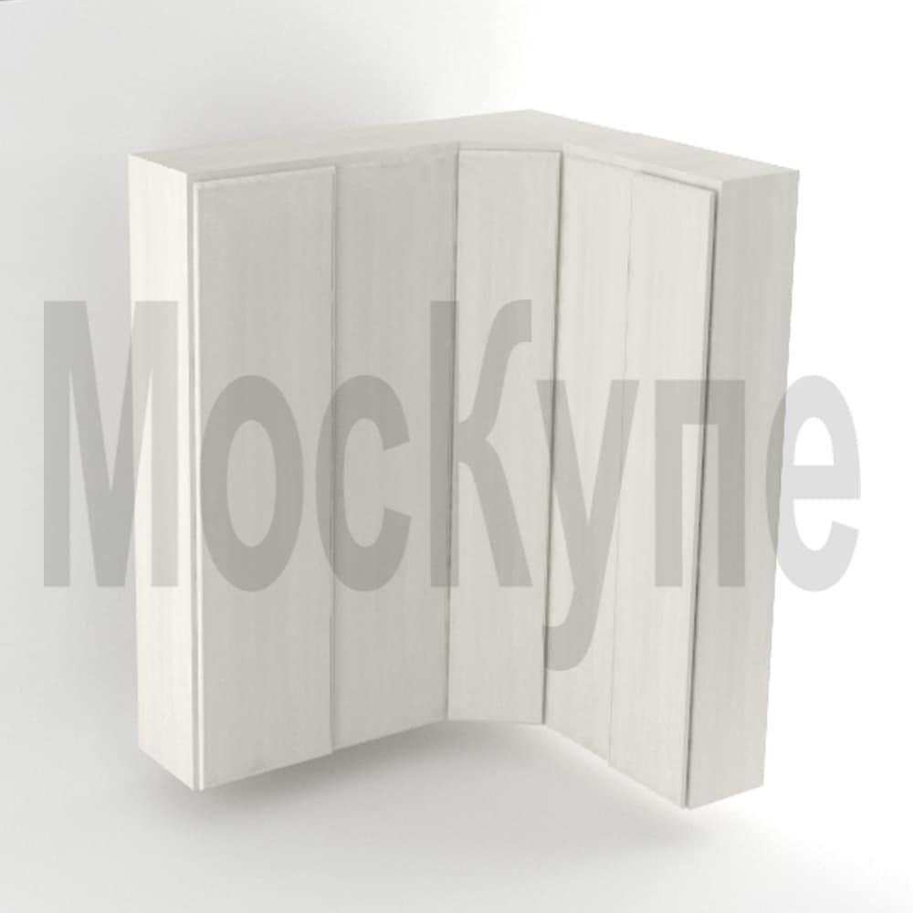 угловой корпусный шкаф купе с диагональным элементом