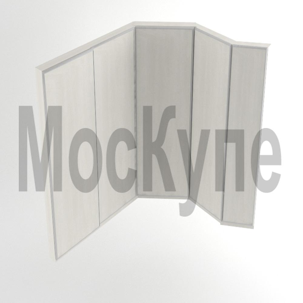 угловой шкаф купе с дверями под произвольными углами