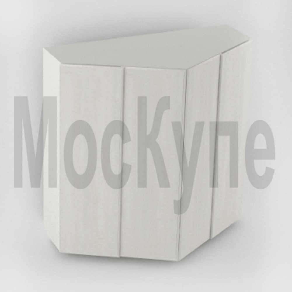 угловой трапециевидный корпусный шкаф купе