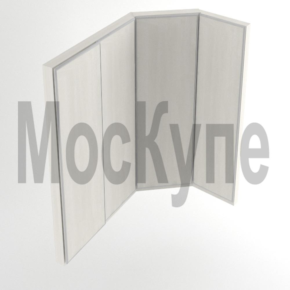 встроенный угловой шкаф купе с диагональным элементом